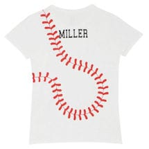 Personalized Women's Baseball T-Shirt
