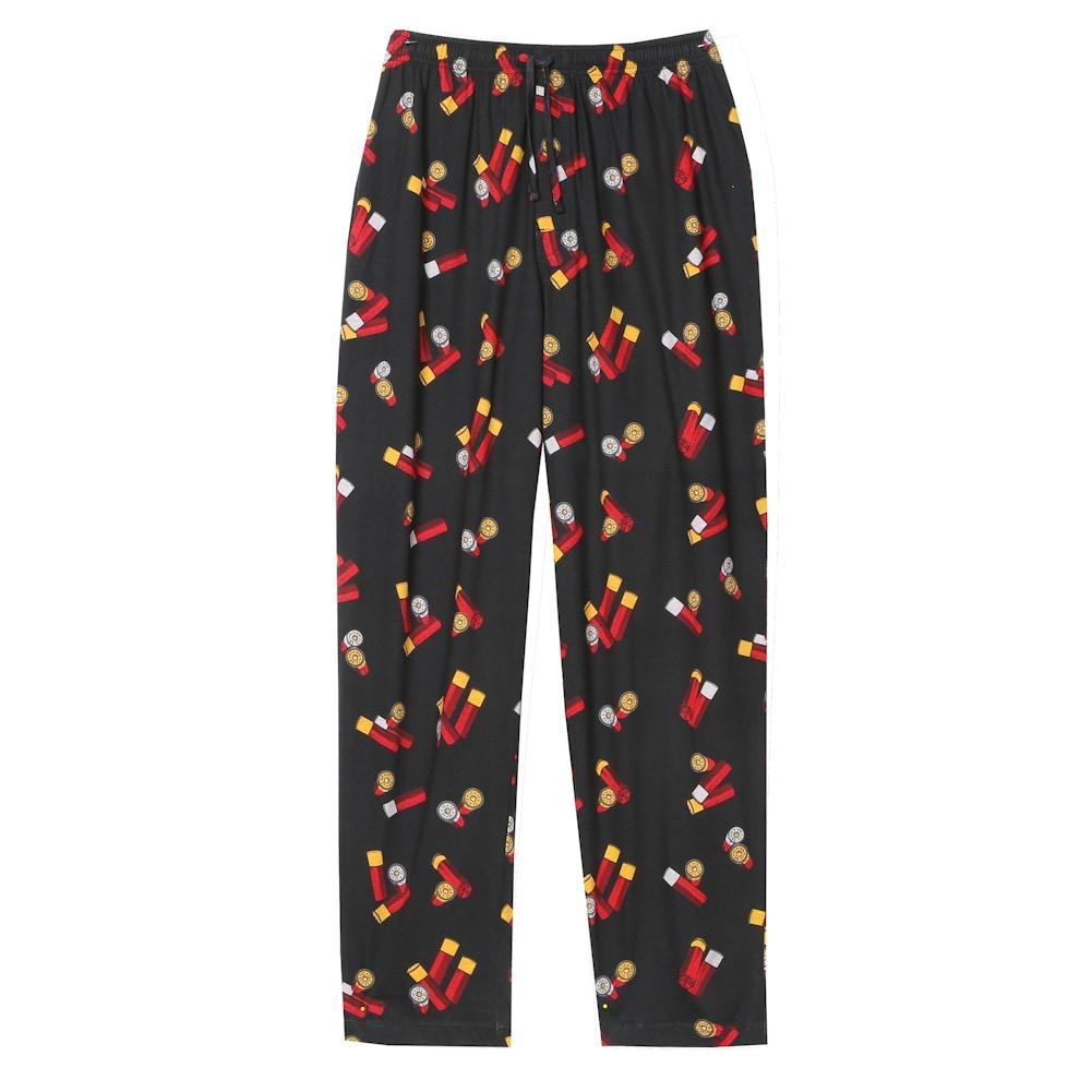 Adult Black Jeans Lounge Pants Faux Denim Pajama Bottoms with Elastic Waist