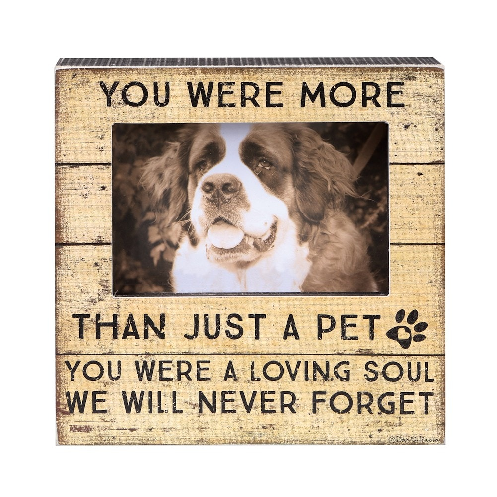 More Than A Pet Memorial Frame - In Memory Of Pet Picture Frame ...