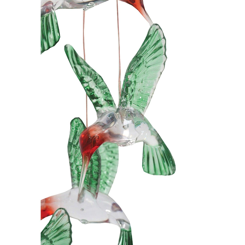 Hummingbird Mobile - Solar Powered LED Lighted Outdoor Patio Garden ...