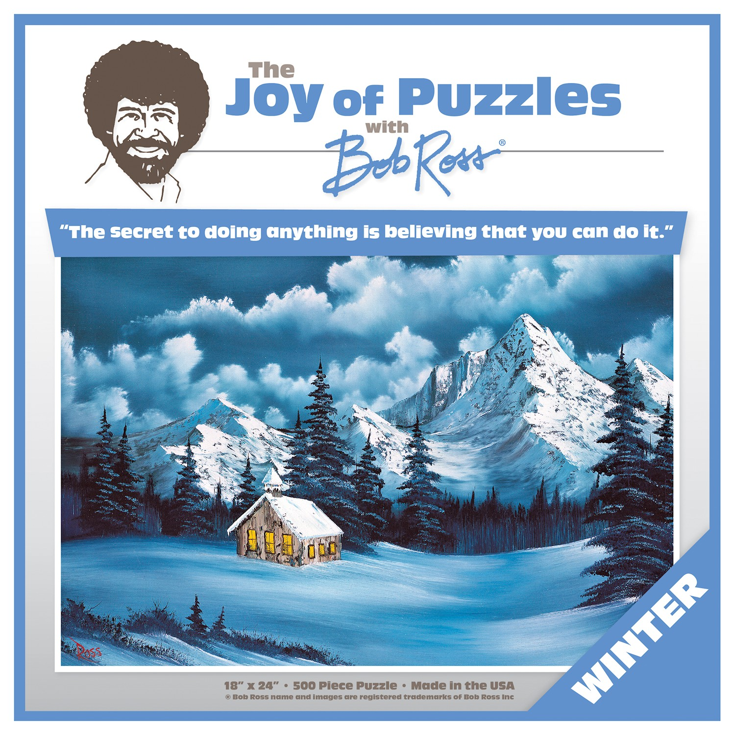Bob Ross Puzzle - The Joy of Puzzles Winter Jigsaw Puzzle ...