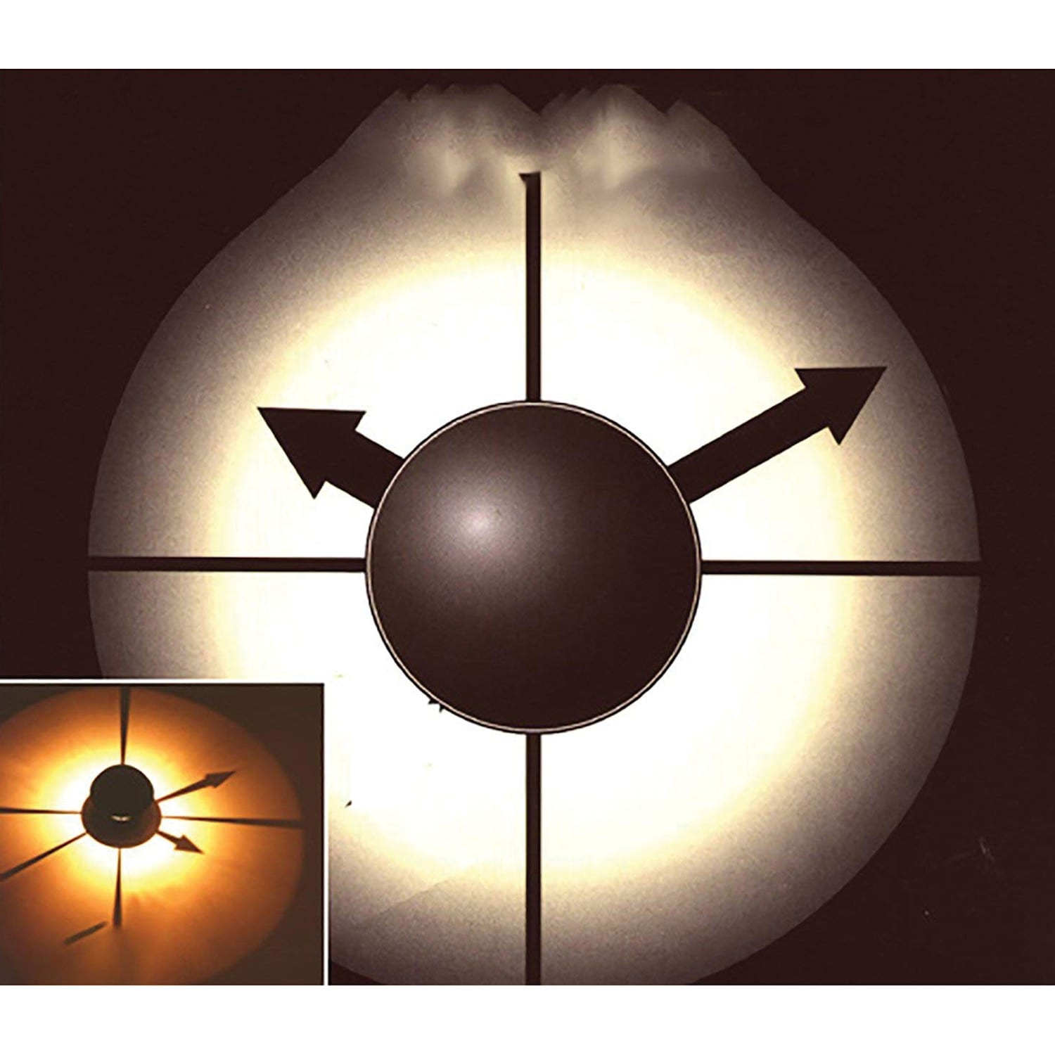 Us Nordic Import Amp Export Wall Shadow Projection Clock Ebay