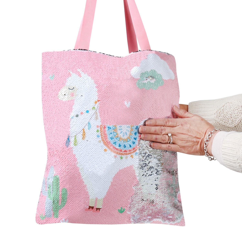 Myxx-Women-039-s-Sequin-Magic-Swipe-Tote-Bags-Unicorn-Llama-Sloth-or-Flamingo-Bag thumbnail 11