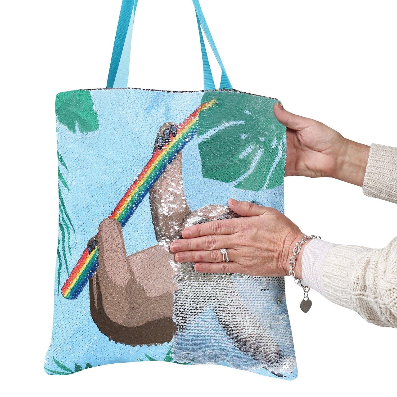 Myxx-Women-039-s-Sequin-Magic-Swipe-Tote-Bags-Unicorn-Llama-Sloth-or-Flamingo-Bag thumbnail 14